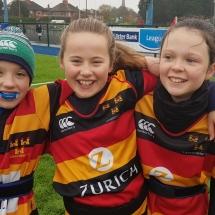 Lansdowne girls rugby versus Clontarf girls rugby