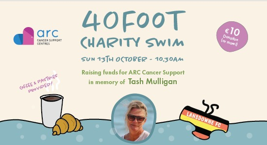 Join Us For A 40 Foot Swim For Arc Cancer Support in Memory of Tash Mulligan